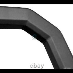 Fits 19-21 Silverado/Sierra 1500 Matte Blk/Skid AVT Bull Bar Bumper Grille Guard