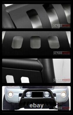 For 01/02+ Nissan Frontier/Xterra Matte Blk Hd Bull Bar Brush Push Grille Guard