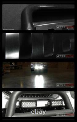 For 02-09 Dodge Ram Blk Bull Bar Bumper Grill Grille Guard+36W CREE LED Fog Lamp