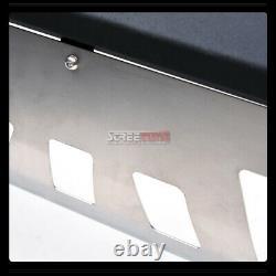 For 03-08 Pilot/Ridgeline Matte Blk Avt Bull Bar Bumper Grill Grille Guard+Skid