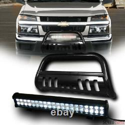 For 04-12 Colorado/Canyon Blk Bull Bar Grille Guard+120W CREE LED Fog Light Lamp