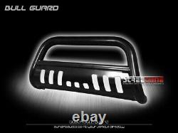 For 06-14 Honda Ridgeline Blk Heavyduty Bull Bar Brush Bumper Grill Grille Guard