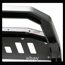 For 06-14 Honda Ridgeline Matte Blk Avt Bull Bar Push Bumper Grill Grille Guard