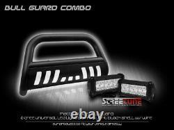For 09-18 Ram 1500 Matte Blk Bull Bar Grill Grille Guard+36W CREE LED Fog Lights