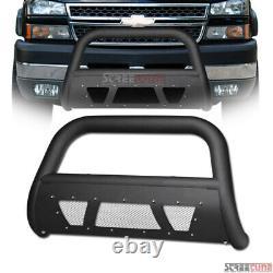 For 10-18 Dodge Ram 2500/3500 Matte Blk Studded Mesh Bull Bar Grill Grille Guard