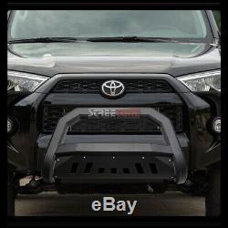 For 10-20 Toyota 4Runner Matte Blk Avt Bull Bar Brush Bumper Grill Grille Guard