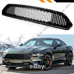 For 18-19 Ford Mustang Bullitt Style High Flow Badgeless Blk Front Upper Grille