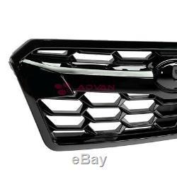 For 18-19+ Subaru Crosstrek Front Bumper Upper Grille Top Airflow Glossy Black