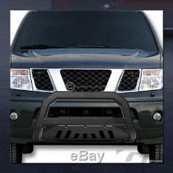 For 2002-2009 Dodge Ram Texuture Blk AVT Edge Bull Bar Push Bumper Grille Guard