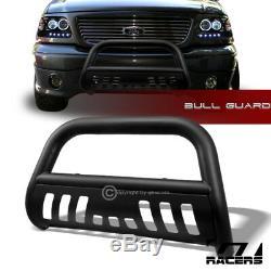 For 2004-2012 Chevy Colorado Matte Blk Bull Bar Brush Bumper Grill Grille Guard