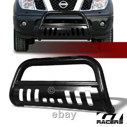 For 2005-2021 Nissan Frontier Blk Steel Bull Bar Brush Bumper Grill Grille Guard
