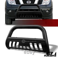 For 2005-2021 Nissan Frontier Matte Blk Bull Bar Push Bumper Grill Grille Guard