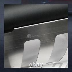 For 2007-2010 Silverado/Sierra 2500 Matte Blk Bull Bar Bumper Grille Guard+Skid