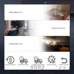 For 2007-2013 Silverado White LED Halo Projector Headlight Matte Blk+Mesh Grille