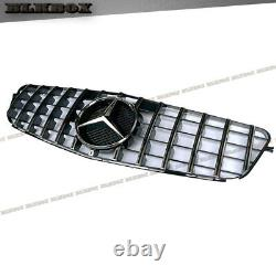 For 2008 2009 2010 2011 2012 2013 2014 C204 W204 Chrome New Gt Black Grille Benz