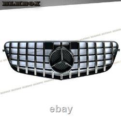For 2010 2011 2012 2013 Mercedes Benz W212 Gt Front Grille Chrome Bar Black Base