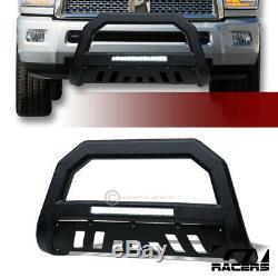 For 2010-2018 Dodge Ram 2500 Textured Blk AVT Aluminum LED Bull Bar Grille Guard