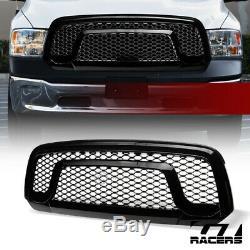 For 2013-2018 Dodge Ram 1500 Blk Rebel Style Honeycomb Mesh Front Bumper Grille