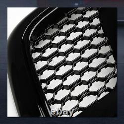 For 2013-2018 Ram 1500 Blk Dual Lamps Headlights nb+Rebel Mesh Honeycomb Grille