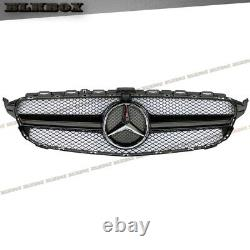 For 2015 2016 2017 2018 Mercedes Benz W205 C205 S205 C63 Type Gloss Black Grille