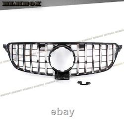 For 2016 2017 2018 2019 Mercedes Benz C292 Gle Coupe Gt Chrome Bar Black Grille
