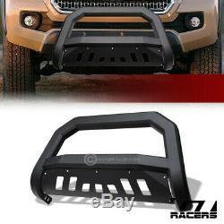 For 2016-2020 Toyota Tacoma Matte Blk AVT Edge Bull Bar Push Bumper Grille Guard