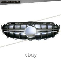 For 2017 2018 2019 Mercedes Benz W213 C238 Silver Bar E63 Type Black Grille