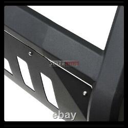 For 88-93 Chevy/GMC C10 C/K Truck/SUV Matte Blk AVT Bull Bar Bumper Grille Guard