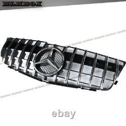 For Mercedes Benz X204 Glk Gt Chrome Gloss Black Grille 2008 2009 2010 2011 2012