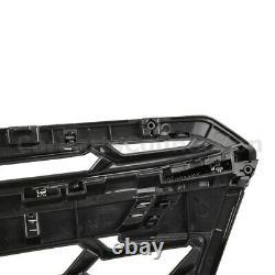 Front Bumper Upper Grille For 18-20 Subaru Crosstrek Top Insert Glossy Black