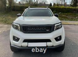 Front Grille For Nissan Navara Np300 2015-2020 White Leds Matt Blk