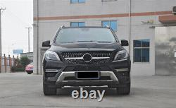 Front Grille Grill For Mercedes Benz W166 ML300 ML320 ML350 ML400 2012-15 BLK WO