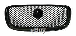 Front Grille for Jaguar XF Black Honeycomb mesh 2011-15 estate X250 XFR-S