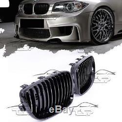 Front Grills Black-gloss For Bmw E81 E82 E87 E88 07-11 LCI Series 1 Spoiler