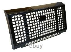 Full Gloss Black 3pc Heritage style front end grille kit for Land Rover Defender