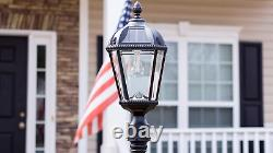 Gama Sonic GS-98B-S-BLK Royal Bulb Lamp Post Outdoor Solar Light Fixture and