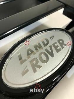 Genuine Land Rover Defender SVX Front Grille painted Gloss Black 90 110 + badge