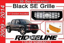 Genuine OEM Honda Ridgeline Black SE Grille 2009-2014 (71100-SJC-A71ZA)