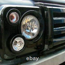 Gloss Black SVX style front grille kit for Land Rover Defender 90 110 60th new