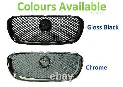 Gloss Black pack Front Grille for Jaguar XF mesh 2008-11 estate saloon XF-R pack
