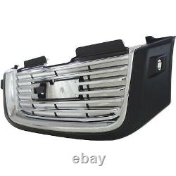 Grille For 2002-2009 GMC Envoy with Chrome Mldg/washer hole Blk Shell/Chr. Insert