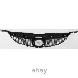 Grille For 2006-2008 Mazda 6 Std. Type with chrome upper bar Textured Blk. Plastic