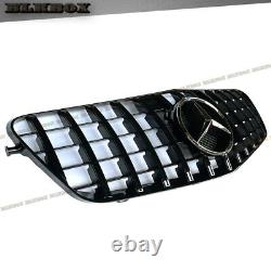 Gt Front Grille Full Gloss Black For 2010 2011 2012 2013 Mercedes Benz W212 4dr