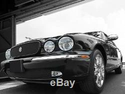 Jaguar XJ8 & XJR Black Mesh New Style Growler Grille and Lower Mesh Grille PKG 2