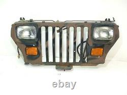 Jeep Wrangler YJ 87-95 Front Grille Grill Nose Lights BLK withBrown FREE SHIPPING