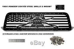 LIBERTY OR DEATH Grill for 07-09 Tundra Aftermarket Steel Grill Black +SS Rivets