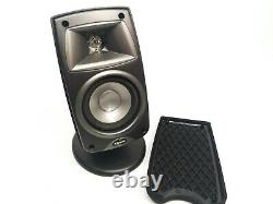 Lot of 3 KLIPSCH Quintet III QUIN3BK Black Surround Sound Speakers Stands Grills