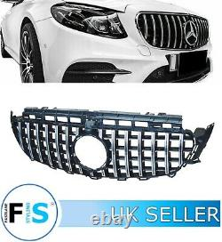 MERCEDES E-CLASS W213 FRONT GRILLE AMG PANAMERICANA GT STYLE WithCAMERA BLK/CHROME