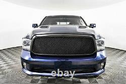 Matte Black Mesh Grille For 13-18 Dodge Ram 1500 Replacement Upper