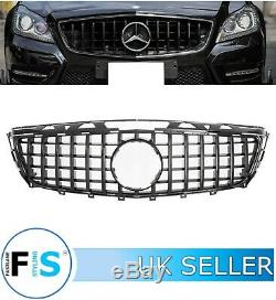 Mercedes Cls C218 W218 Coupe Front Grille Panamericana Gt Style Gloss Blk 11-14